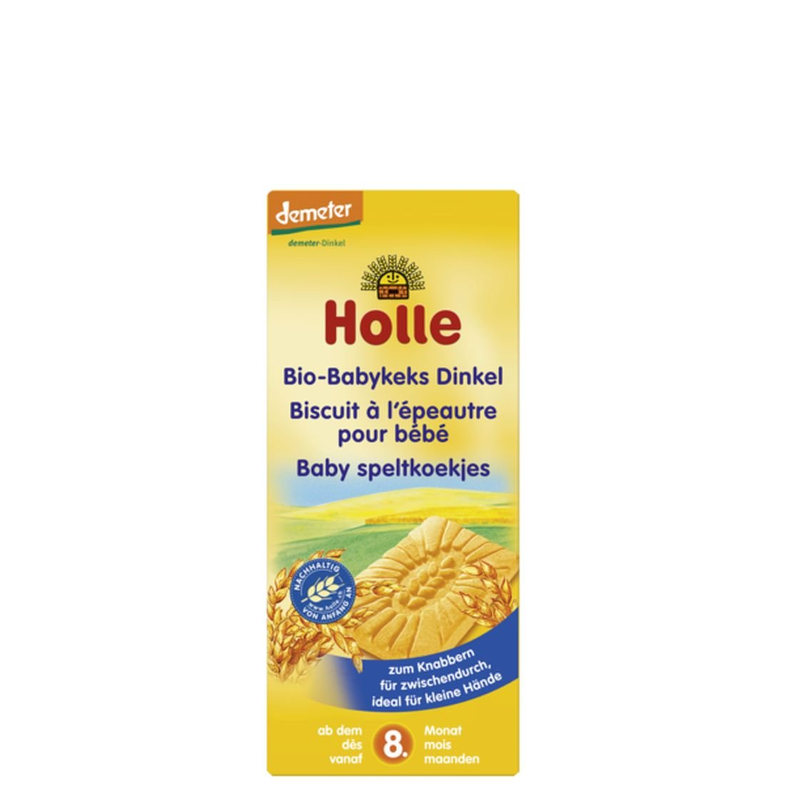 Holle Organic Snacks - Spelt Baby Biscuits - Single Pack, 150g 335823