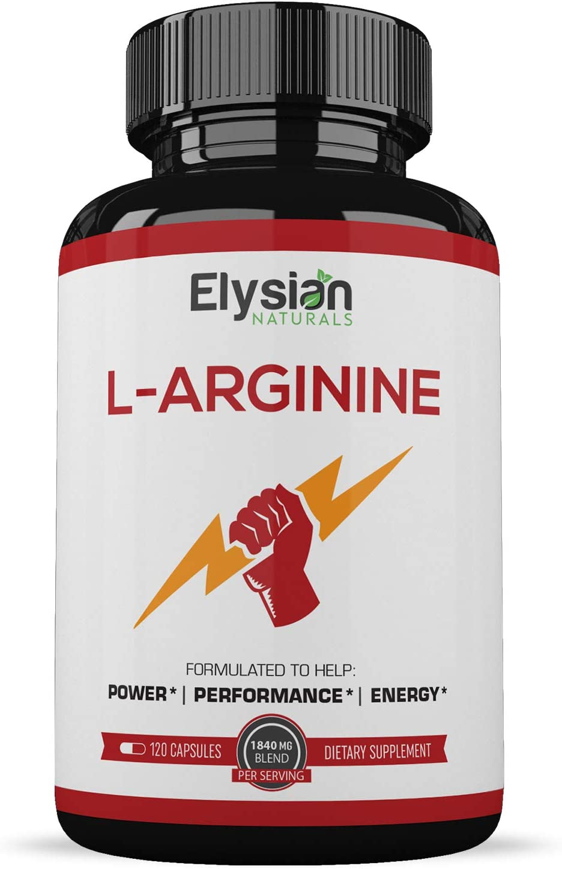 Extra Strength L Arginine – Nitric Oxide Supplement – Premium Muscle Building – Vascularity Energy – Essential Amino Acids to Train Harder Longer – 120 Capsules