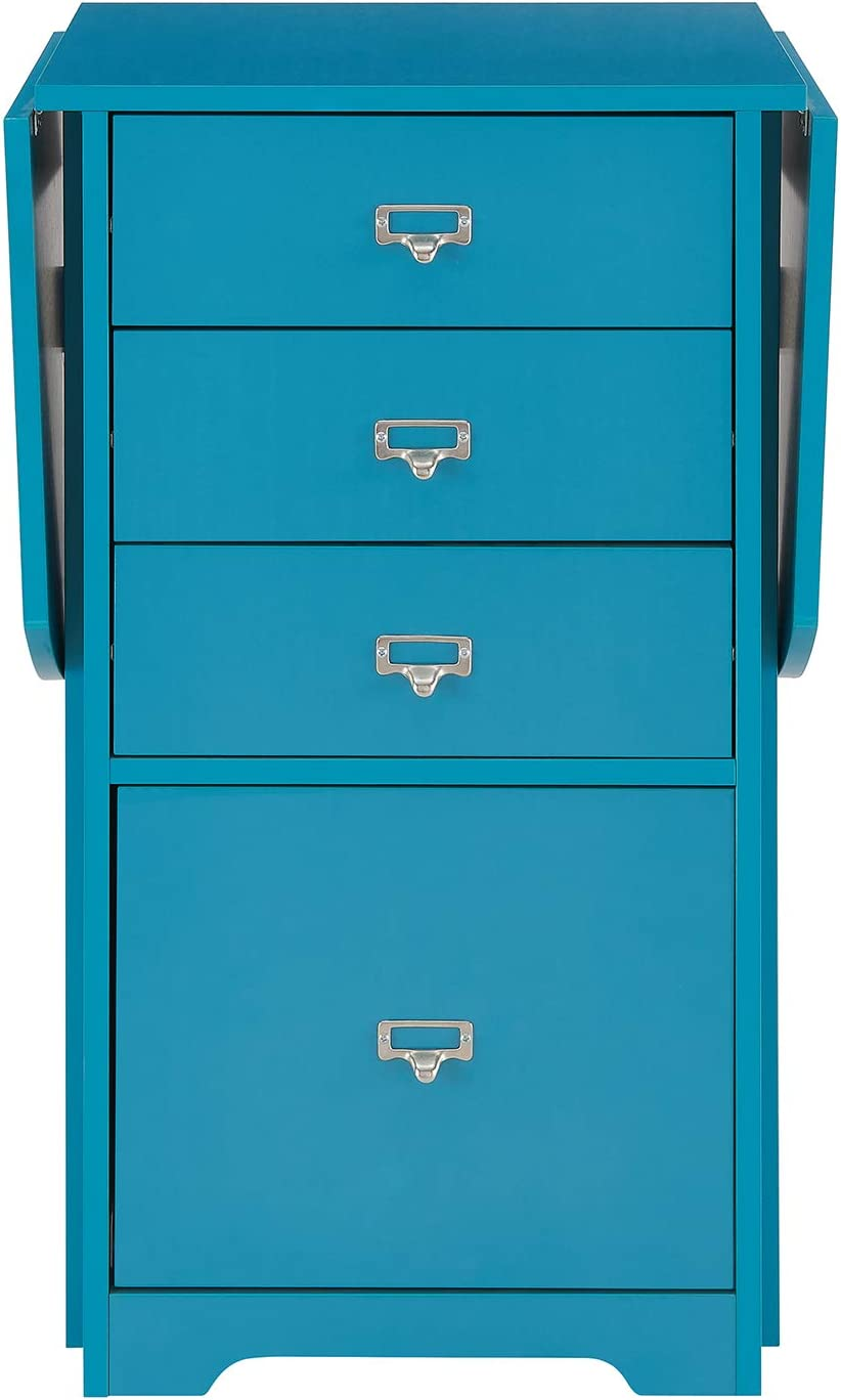 Southern Enterprises Jeannie Organizer and Craft Desk, Blue