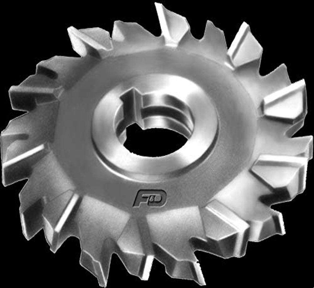 High Speed Steel 6 Diameter 1 Hole Size F/&D Tool Company 11217-A7608 Staggered Tooth Side Milling Cutter 1//4 Width of Face