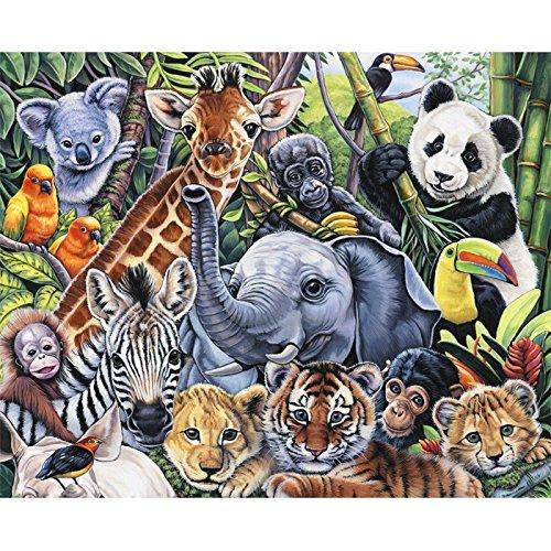 - Jungle Babies Fabric Panel - Wild Instincts Digital Print - 35