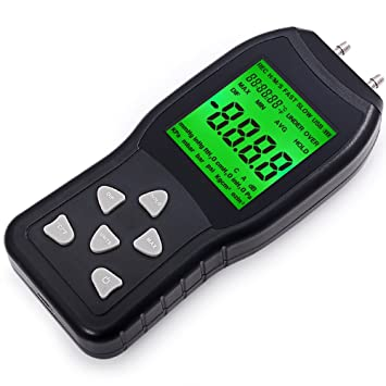 FOSHIO Großes LCD-Display Digitales Manometer mit ...