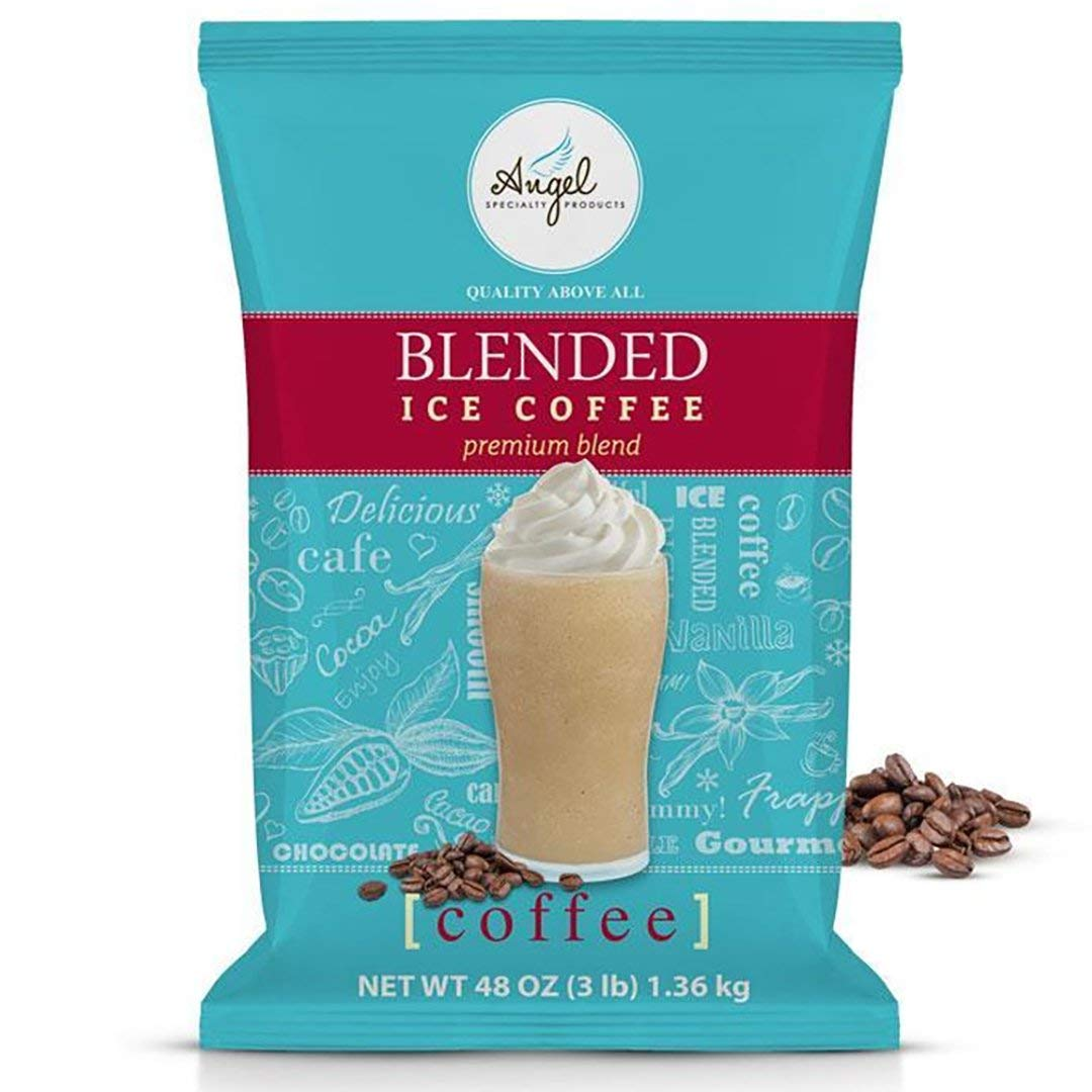 Angel Specialty Products, Blended Ice Coffee, Instant Frappe Powder Drink Mix, 3-Pound Bag [34 Servings]
