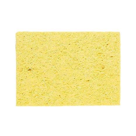 Aiming 10pcs de soldadura de hierro soldadura punta de soldadura de limpieza Esponja amarilla