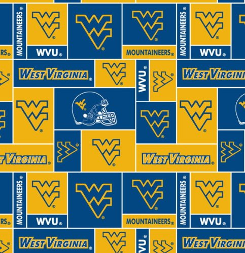 University of West Virginia -100% Polyester Fleece, 60