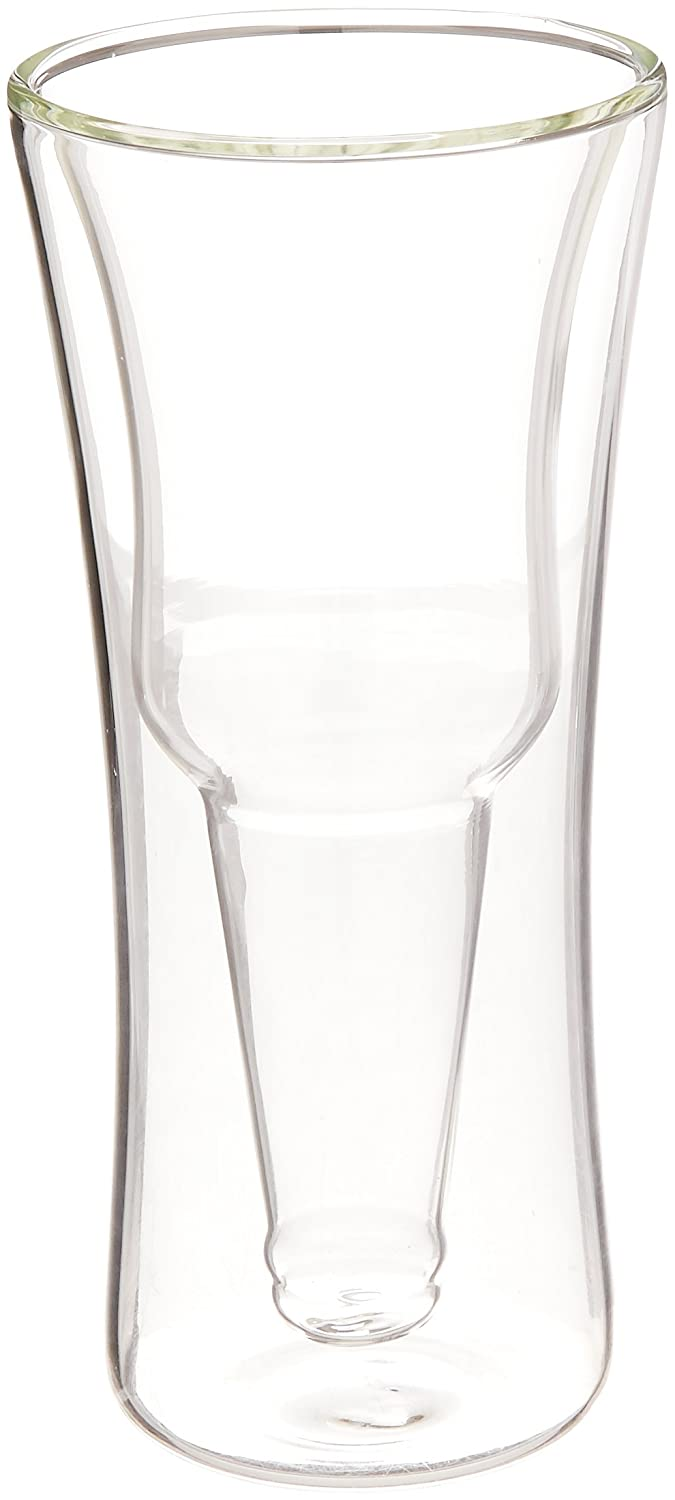 Modern Home Inverso Double Wall Borosilicate Inverted Beer Glass