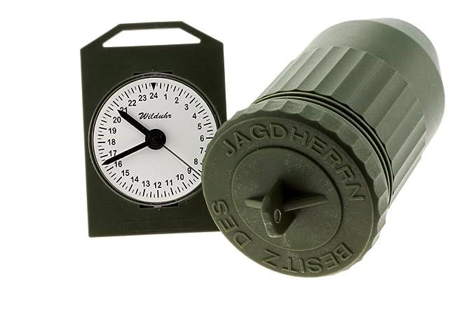En 24 Hora Caza Alemania Wild Reloj Con MostrarFabricado Clock kPXZiu