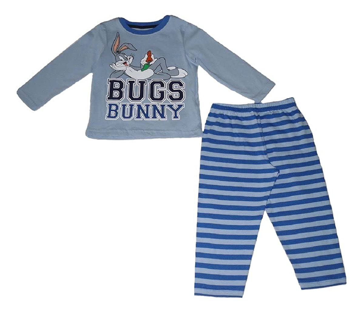 Looney Tunes Bugs Bunny - Pijama Dos Piezas - para niño Azul Azul  Amazon. 1242e73427c39