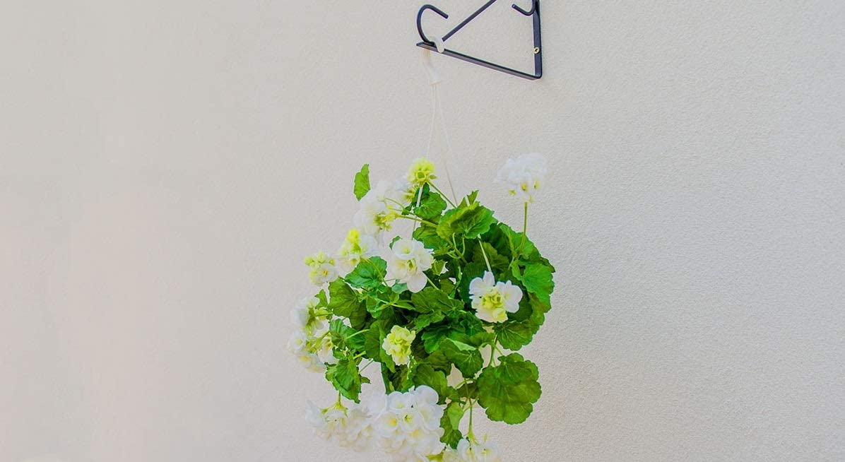 Blumenampelhalter Balkon Wandhalterung Laterne abgerundet H/ängek/örbe Wandhaken f/ür Blumenampel Wandhalter aus Stahl KADAX Blumenhaken Garten Blumenampelhaken schwarz