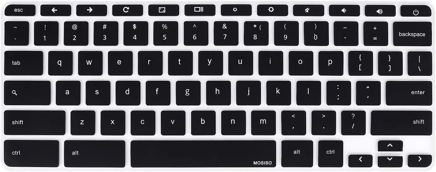 MOSISO Keyboard Cover Skin Compatible with HP 14 inch Chromebook, HP Chromebook 14-db Series, HP Chromebook 14-ca Series, HP Chromebook 14-ak Series, HP Chromebook 14 G2 G3 G4 G5 Laptop, Black