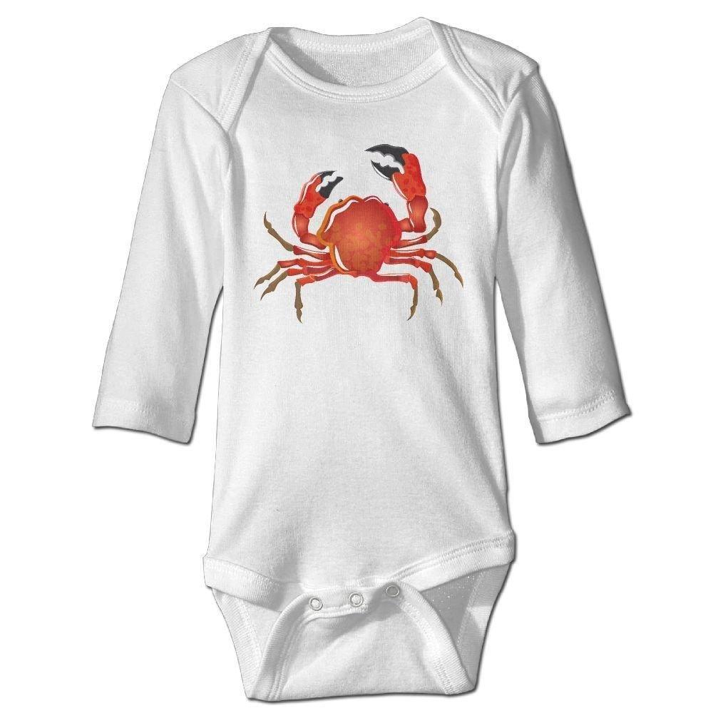 braeccesuit Baby Underwater Crab Long Sleeve Romper Onesie Bodysuit Jumpsuit