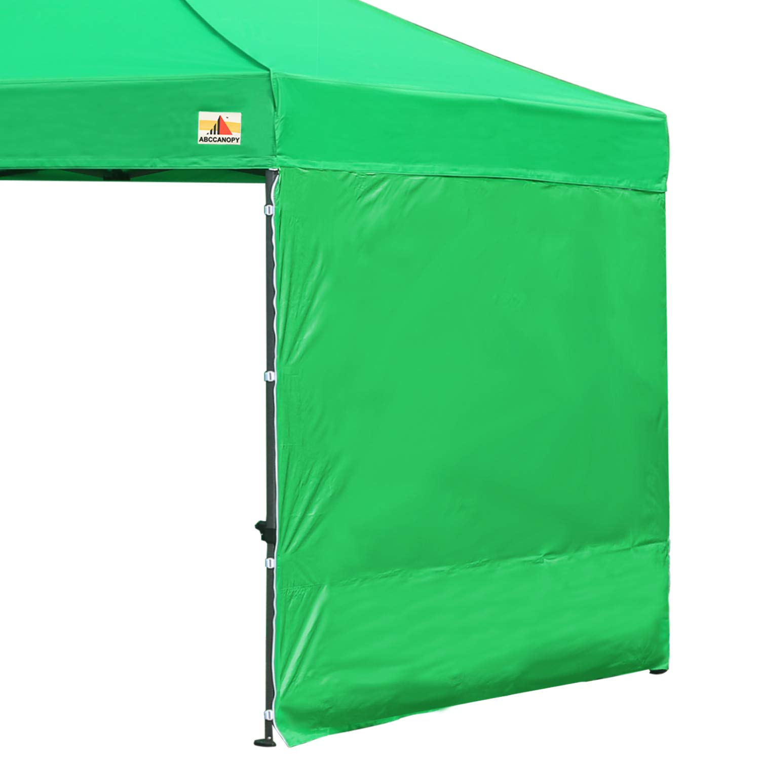 ABCCANOPY 15+Colors 10' Sun Wall 10'x 10' Straight Leg pop up Canopy Tent, 10' Sidewall kit (1 Panel) Truss Straps, (Kelly Green) by ABCCANOPY