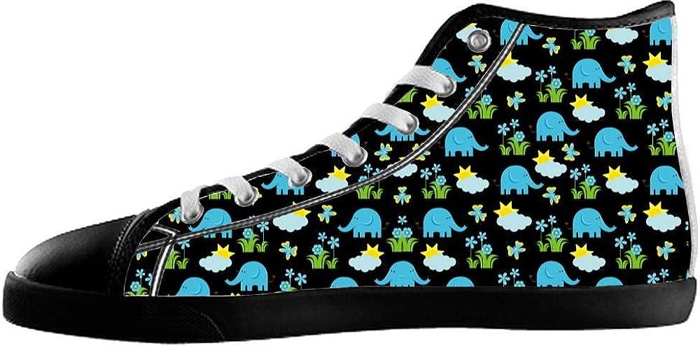 Bernie Gresham Canvas Womens Shoes Elephant Shoes Elephant Sneakers High Top Canvas Womens Shoes