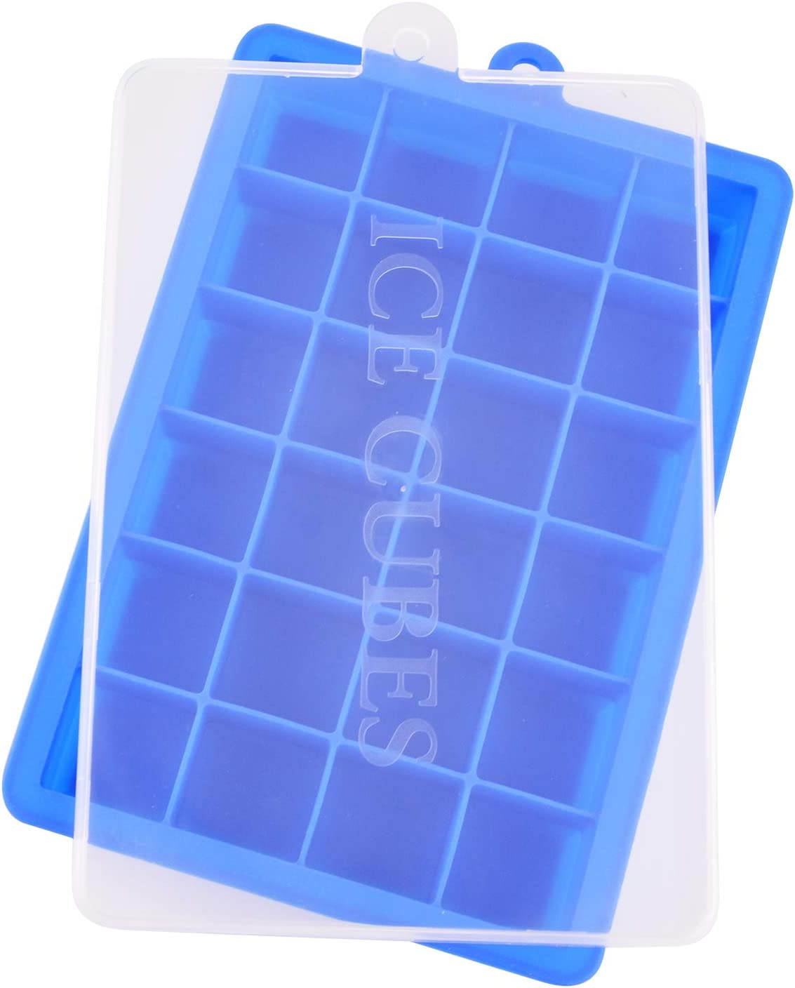 Ice Cube Tray, Silicone Ice Tray Molds Easy Release Ice Jelly Pudding Maker Mold, 24 Cavity (Blue)