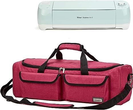 Compatible with Cricut 9x9 Easy Press 2 HOMEST Heat Press Machines Storage Bag Grey