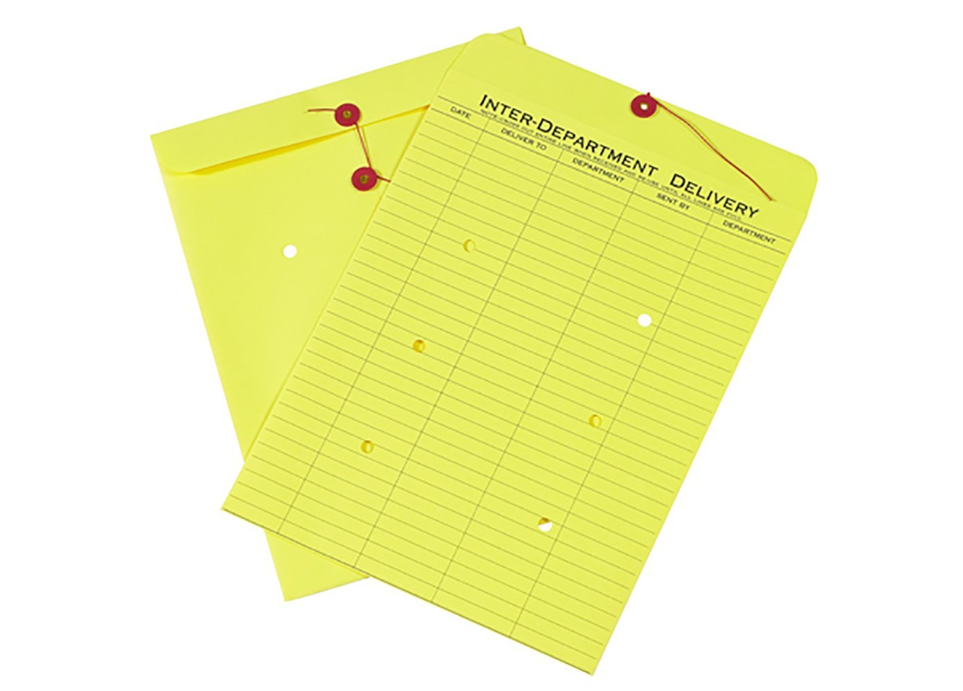 RetailSource E131001YI10 Inter Department Envelopes 13 x 10 x 1 Yellow Pack of 10