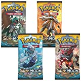 Pokemon: Sun & Moon 4 Sealed Booster Packs - Sun and Moon Trading Cards for 2017