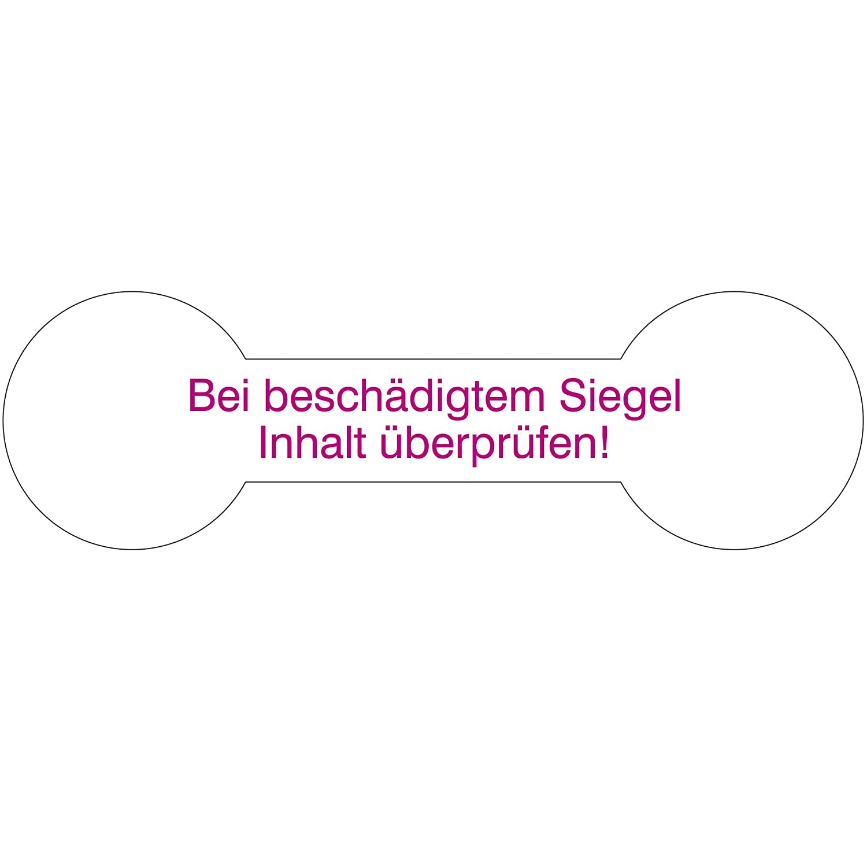 Kontrollsiegel 1000 Etiketten auf Rolle 70 x 21 mm Dokumentenfolie wei/ß PE permanent haftend Labelident Siegeletiketten