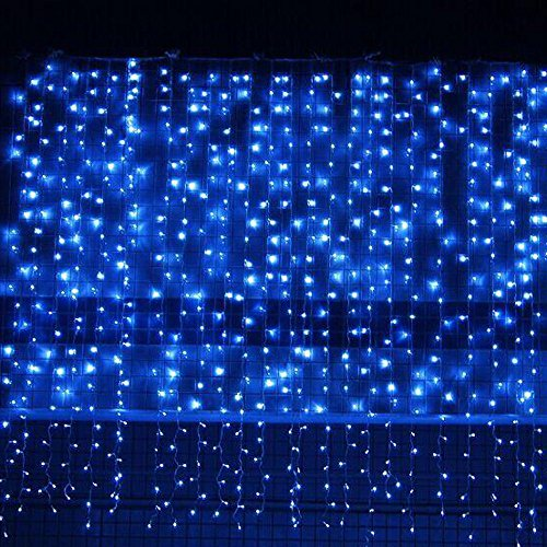 360 Led Blue Icicle Light Set in US - 7