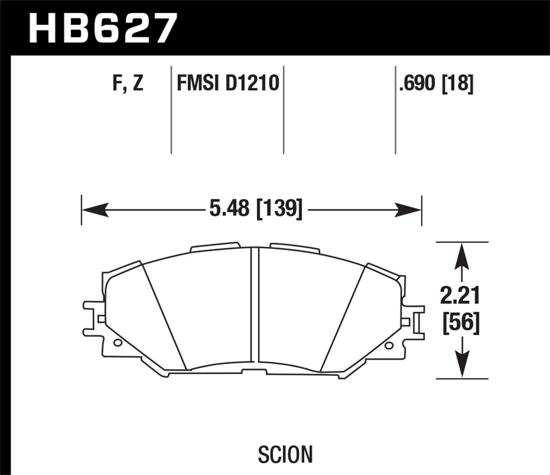Hawk Performance HB627F.690 HPS Performance Ceramic Brake Pad
