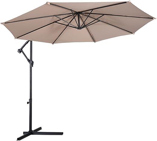 Sombrilla de mascarello® 3 M Colgante Banana para jardín o patio paraguas Cantilever – Parasol, beige: Amazon.es: Jardín