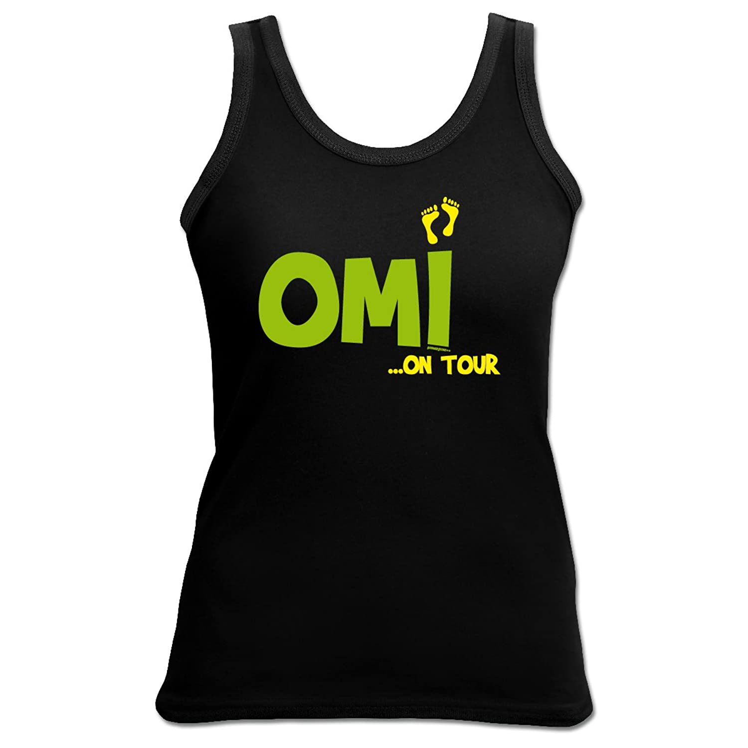 TankTop T-Shirt ::: Omi on Tour ::: Girl Schwarz