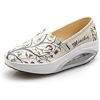 zaragfushfd Women's Lightweight Running Jogging Shoes Comfortable Platform Sneakers