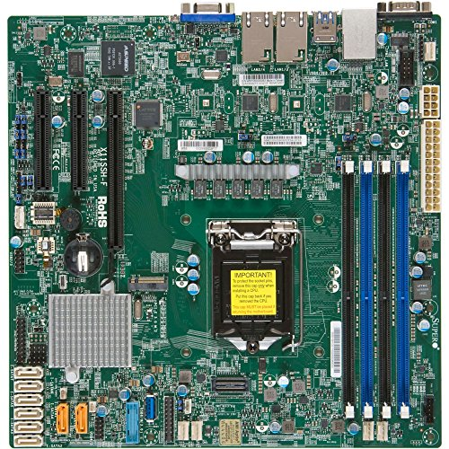 Motherboard Ethernet Supermicro (Supermicro Motherboard Micro ATX DDR4 LGA 1151 X11SSH-F-O)