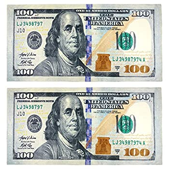 - 61f00gKV OL - New 100 Dollar Bill Printed Beach Towel (106028) – 2 Pack Set