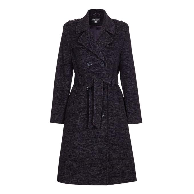 tolle Preise Release-Info zu kauf verkauf De la Crème - Womens Wool Belted Long Military Trench Coat