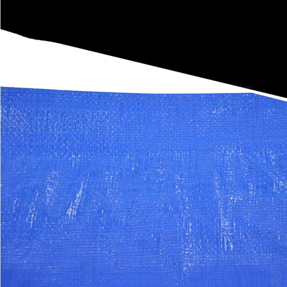 YANGJUN-Plane Verdicken Regenfest Wasserdicht Sonnencreme Schatten Plane Lastwagen Lastwagen Plane Segeltuch Draussen, 0,33 MM (Farbe   Blau, größe   3.8mx5.8m) bcb6d4