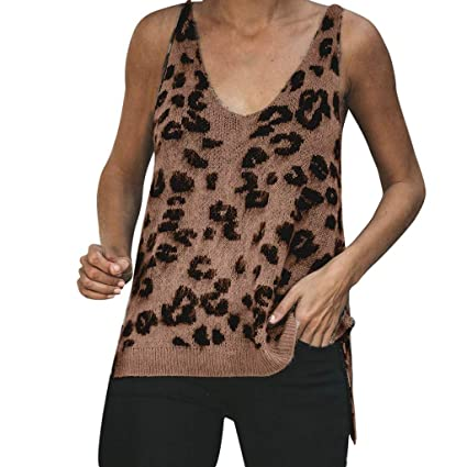 Amazon.com  Tank Top Women s Tops Leopard Print Backless Camisole Vest Blouse  Sleeveless T shirt Toponly  Appliances