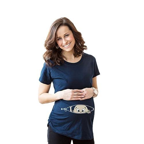 MissFox Para Mujer Camiseta Premamá T-Shirt Estampado Bebé Travieso