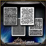 Mini Animal Patterns AirSick Airbrush Stencil Template