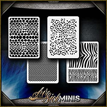 Amazon Mini Animal Patterns Airsick Airbrush Stencil Template