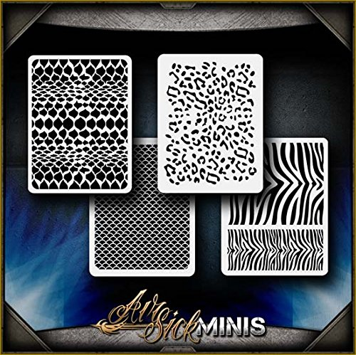 Mini Animal Patterns AirSick Airbrush Stencil Template