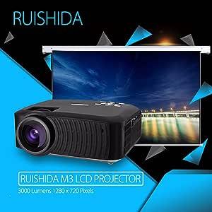 Liku técnicas RUISHIDA M3 proyector de cine en casa LCD