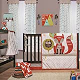 Clever Fox 5 Piece Baby Crib Bedding Set with Bumper by Little Haven