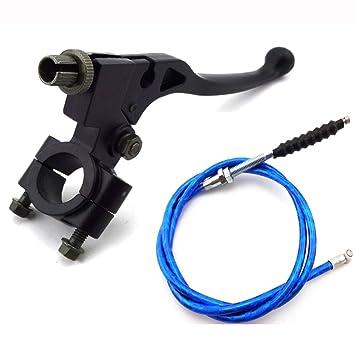 Mango negro de aluminio tc-motor Perca embrague palanca + azul 1070 mm Cable de