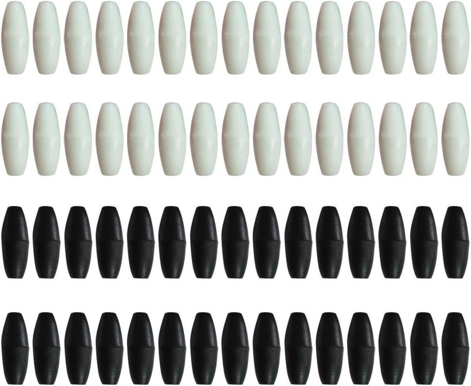 Healifty Broche de Seguridad de 60 Piezas para Collares y Pulseras para la dentición (Negro + Blanco)