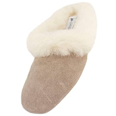 318cbd023629 Lambland Ladies Genuine Sheepskin Suede Mule Slippers with Luxurious  Lambswool and Suede Sole Size UK 3