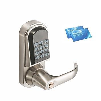 WEN Cerradura de Puerta Cerradura electrónica de código Cerradura de Zinc Material Cerradura de Llave Digital