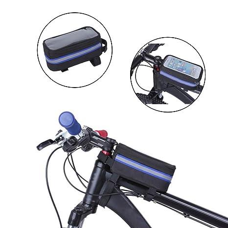 XCHUNA Bolsa de Cuadro Delantero para Bicicleta, Bolsa de teléfono ...