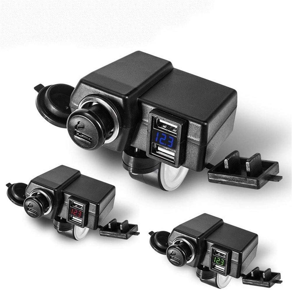 Hui Ni USB-oplader voor motorfiets, met schakelaar, 12 V, multifunctioneel, waterdicht, snellaadfunctie DYUK- DYUK-