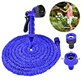 TANTAI Expandable Garden Hose,50ft Expanding Garden Hose-Heavy Duty Flexible Hose with 7-Pattern Spray Nozzle High Pressure Water Gun for All Your Watering Needs