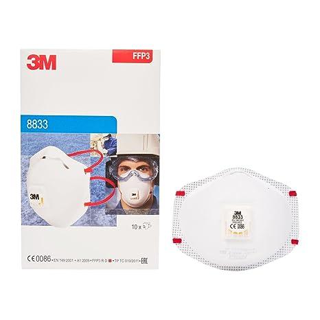 respiratore monouso 3mtm 8833 ffp3 r d con valvola small pack