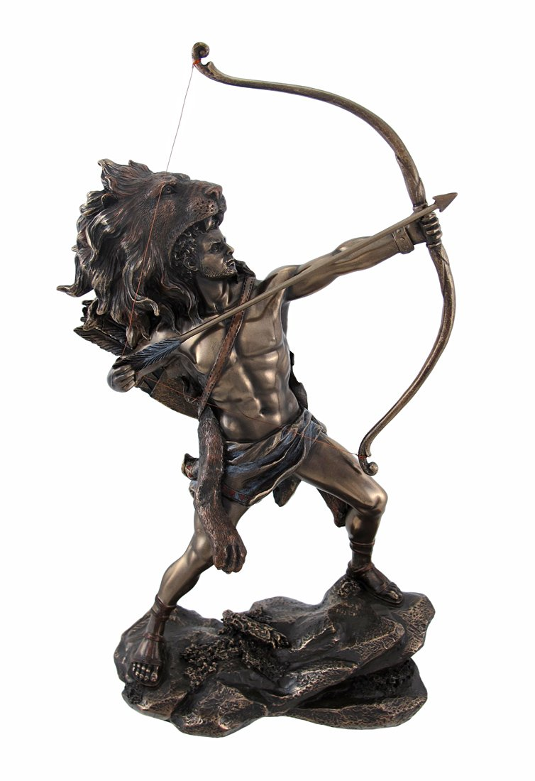 Hercules Shooting Arrow Statue Sculpture Greek Myth