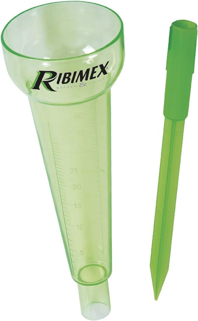 Ribimex PRPLUVIO - Pluviómetro de jardín, verde: Amazon.es: Jardín