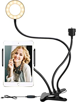 Todo para el streamer: ELEGIANT Aro de Luz LED, Anillo de Luz Fotografía Ring Light, 3 Modos de Iluminación, 10 Niveles de Brillo con Conector de 1/4