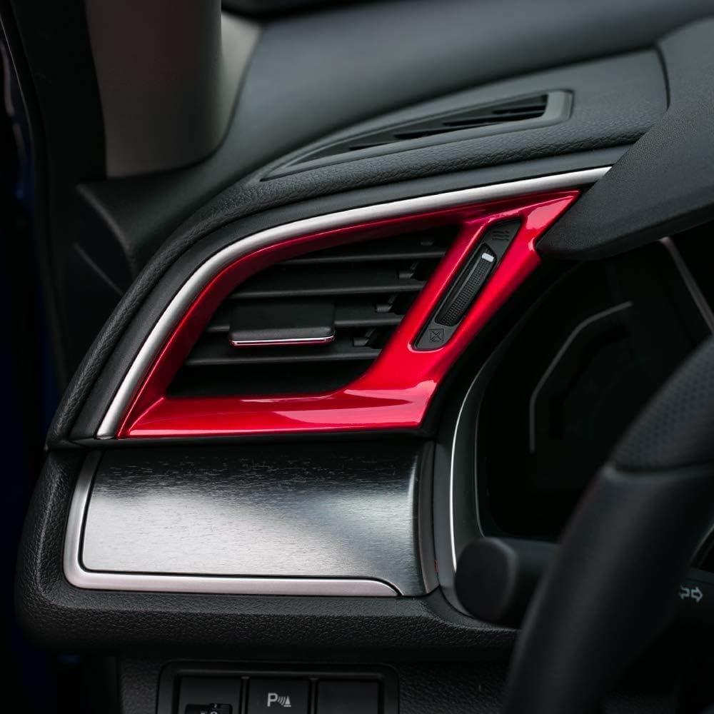 Rosso L/&U ABS Central Control Air Vent Uscita Decorazioni Disposizione della Copertura della Sticker per Il 10 Gen Honda Civic 2020 2019 2018 2017 2016 3pcs